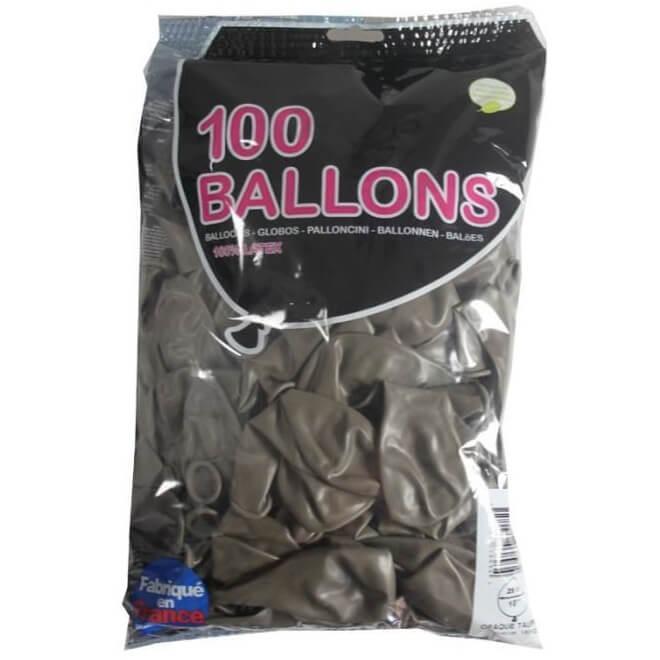 Ballon opaque francais taupe en latex