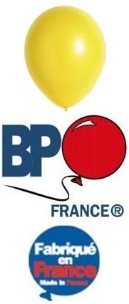Ballon opaque jaune 15cm