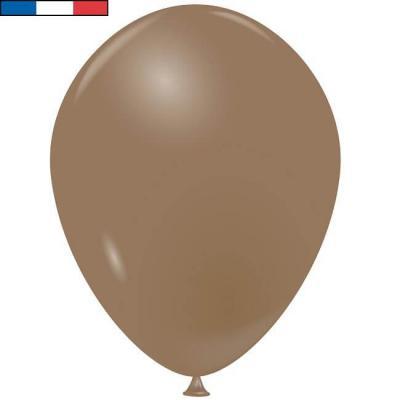 Ballon français en latex opaque 25cm taupe (x100) REF/38934