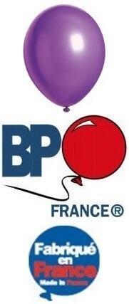 Ballon opaque violet, 15cm (x100) REF/19391