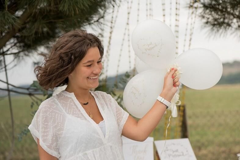 Ballon or just married en latex