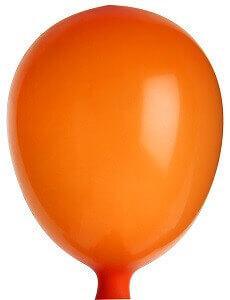 Mini ballon en latex orange (x25) REF/4582