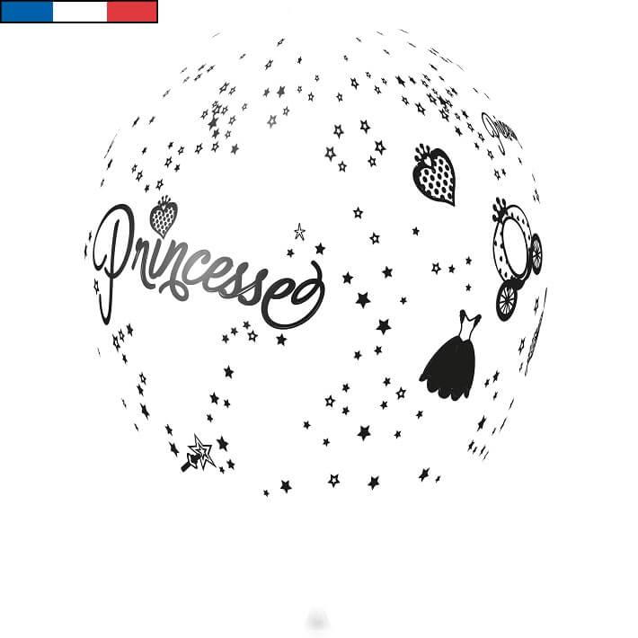 Ballon princesse blanc en latex de fabrication francaise