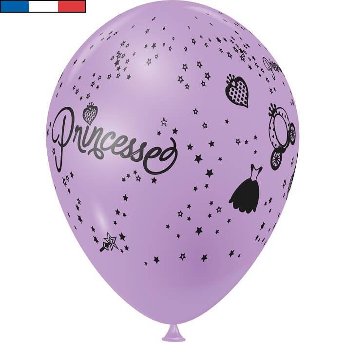 Ballon princesse lilas en latex de fabrication francaise