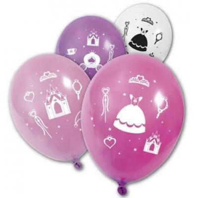 Ballon multicolore: Princesse (x8) REF/BA1440