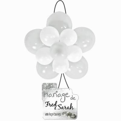 Ballon rosace blanc (x1) REF/BAL370