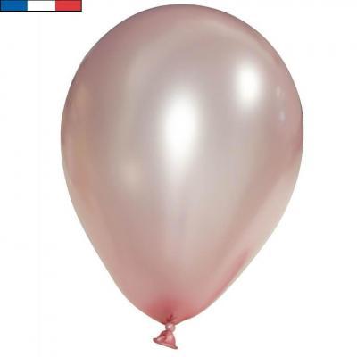 Ballon français en latex opaque 30cm rose gold métallique (x100) REF/50813