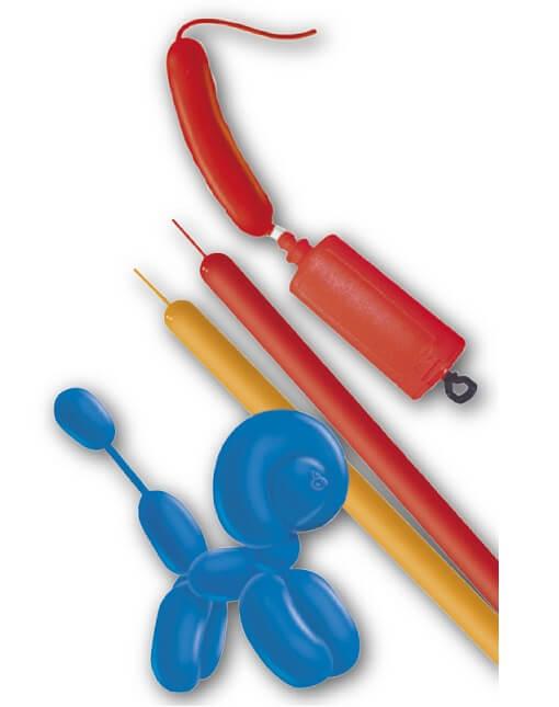 Ballon saucisse a modeler avec pompe