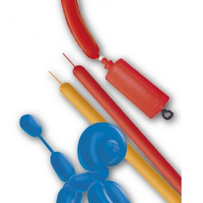 Ballon saucisse à modeler avec pompe (x10) REF/BA1540