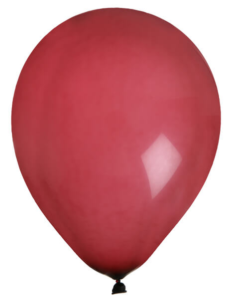 Ballon uni bordeaux