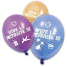 Ballon vive la retraite (x8) REF/BA1460