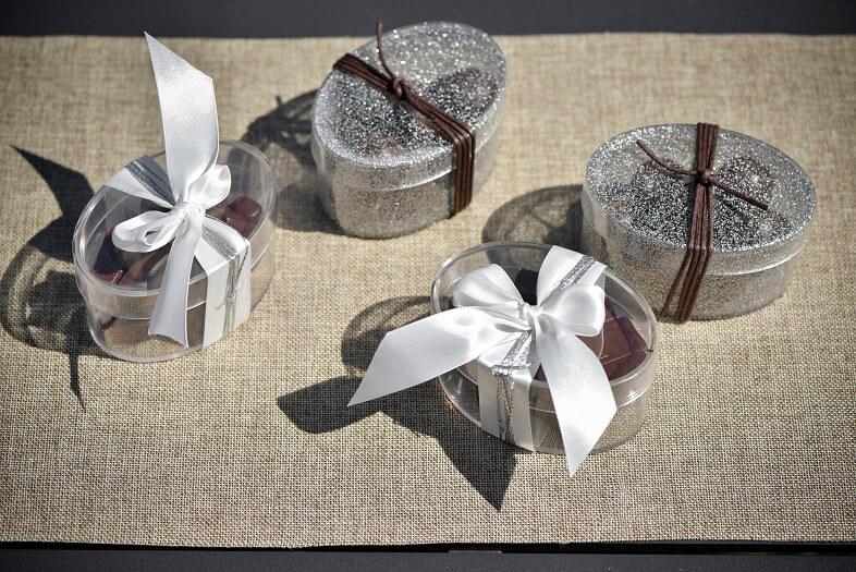 Ballotin de chocolat argent