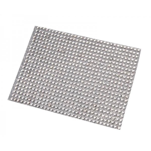Bande strass adhesive argent