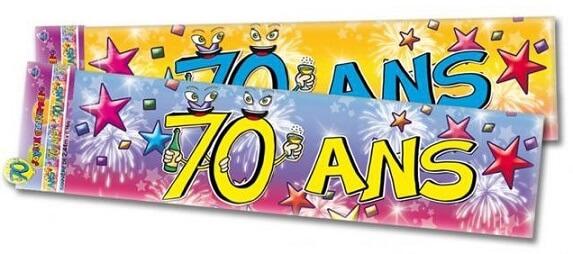 Banderole anniversaire 70ans 1