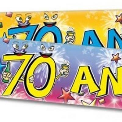 Banderole anniversaire 70ans (x1) REF/BAN08