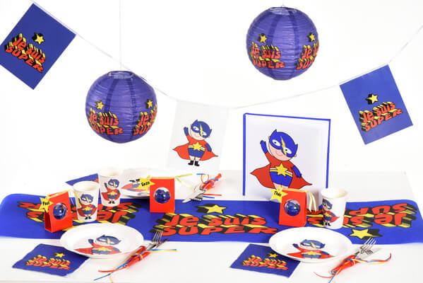 Banderole anniversaire super heros boy 1
