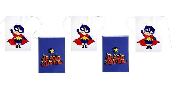 Banderole anniversaire super heros boy