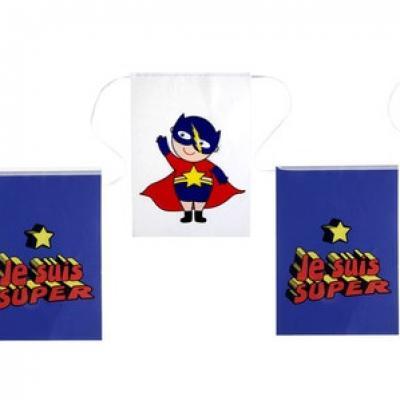 Banderole anniversaire: Super héros boy (x1) REF/5263