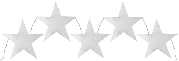 Banderole etoile argent 1