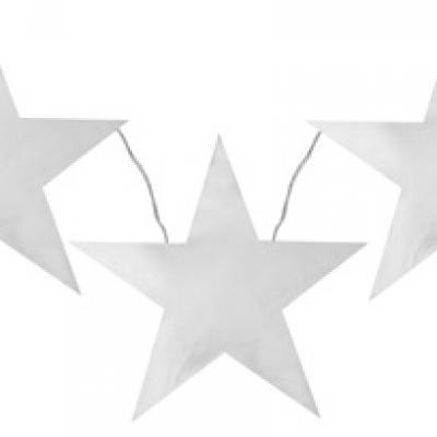 Banderole étoile métallisée argent (x1) REF/4560