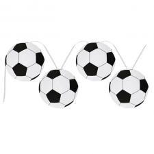 Banderole ballon de football noire et blanche (x1) REF/4859