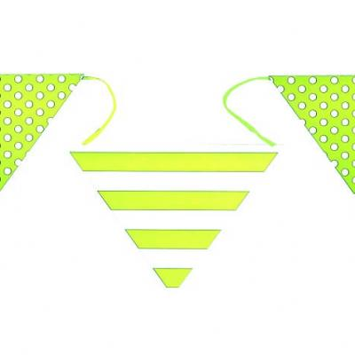 Banderole verte rayures et pois (x1) REF/4326