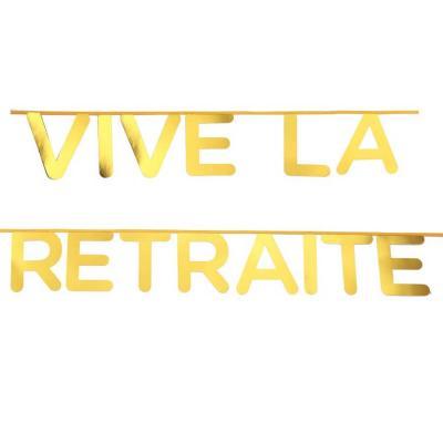 Banderole vive la retraite or (x1) REF/5658