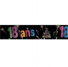 Bannière anniversaire 18ans (x1) REF/AA2008CH/18