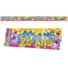 Bannière anniversaire: 20ans (x1) REF/BAN03