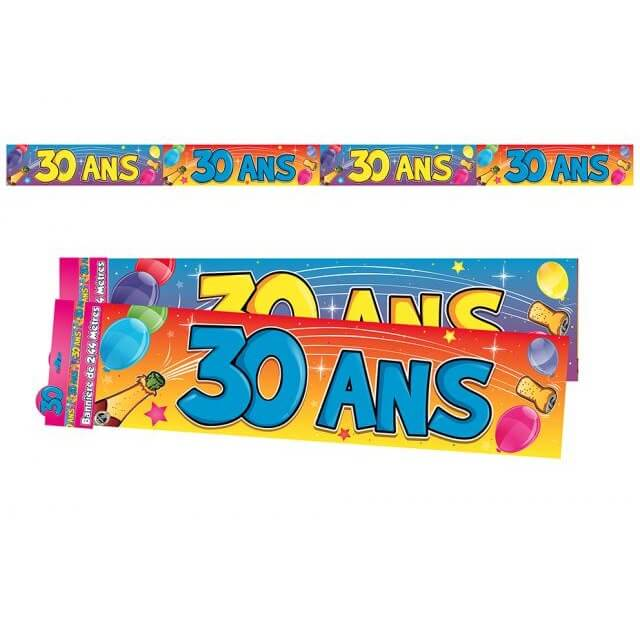 Banniere anniversaire 30ans multicolore