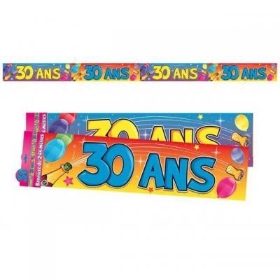 Bannière anniversaire 30ans multicolore 2.44m (x1) REF/BAN04