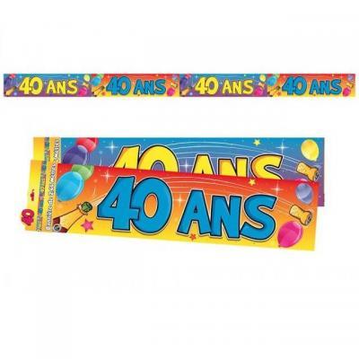 Bannière anniversaire 40ans multicolore 2.44m (x1) REF/BAN05