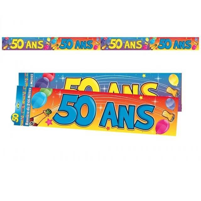 Banniere anniversaire 50ans multicolore