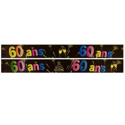 Bannière anniversaire 60ans (x1) REF/AA2008CH/60