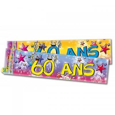 Bannière anniversaire: 60ans (x1) REF/BAN07