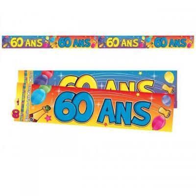 Bannière anniversaire 60ans multicolore 2.44m (x1) REF/BAN07