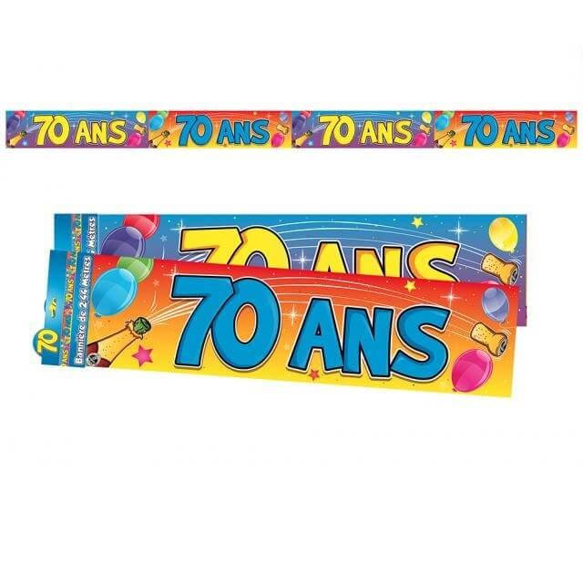 Banniere anniversaire 70ans multicolore