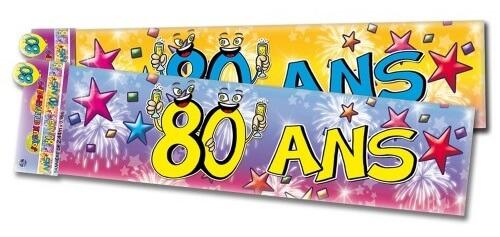 Banniere anniversaire 80 ans