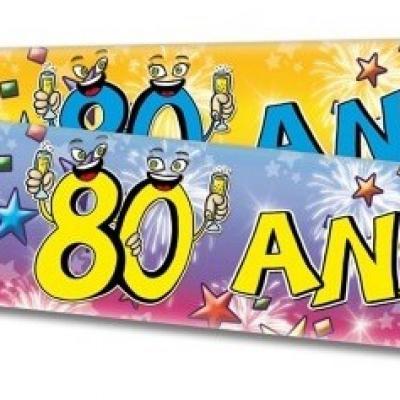 Bannière anniversaire 80ans (x1) REF/BAN13
