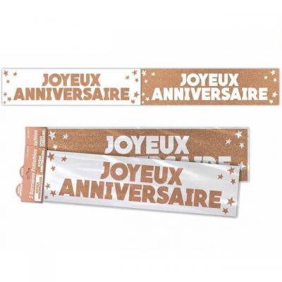 Bannière anniversaire pailletée: Cuivre (x1) REF/BANP00CU