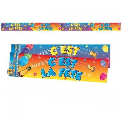 Bannière c'est la fête multicolore 2.44m (x1) REF/BAN10