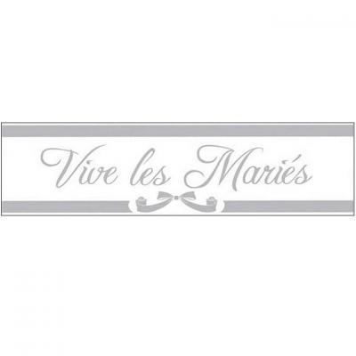 Bannière mariage: Vive les mariés (x1) REF/BANM00