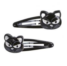 Barrettes Halloween: Chat noir (x2) REF/46630