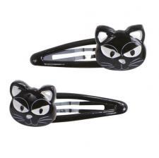 Barrettes Halloween: Chat noir (x2) REF/46630