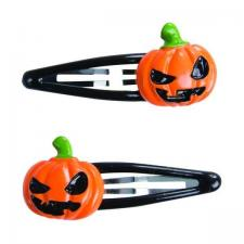 Barrettes Halloween: Citrouille (x2) REF/46630