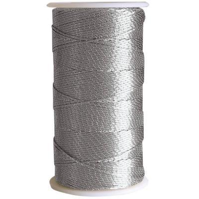 Bobine de fil métallisé argent 1mm x 30m (x1) REF/22029