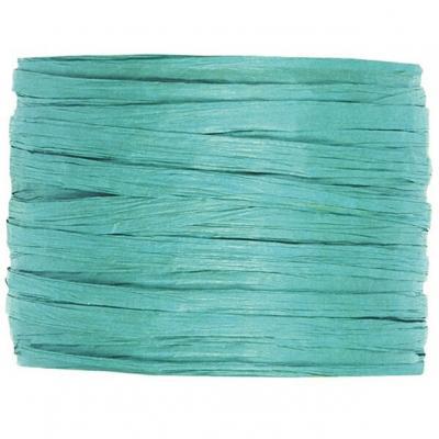 Bobine de raphia papier bleu turquoise 4mm x 20m (x1) REF/2637