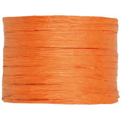 Bobine de raphia papier orange 4mm x 20m (x1) REF/2637
