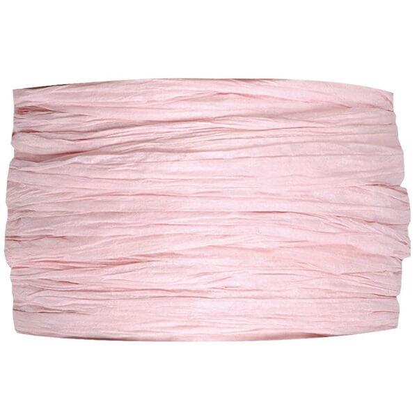 Bobine de papier raphia rose pour decoration