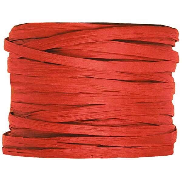 Bobine de papier raphia rouge pour decoration